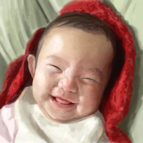 赤ちゃんの頃の長女