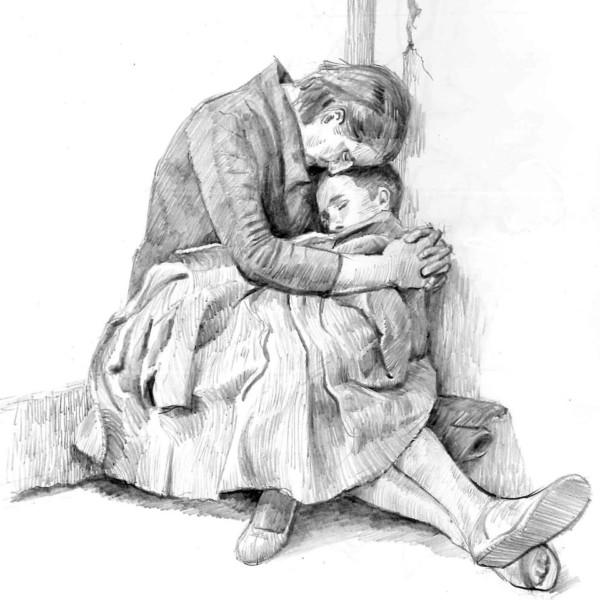 戦時の親子
