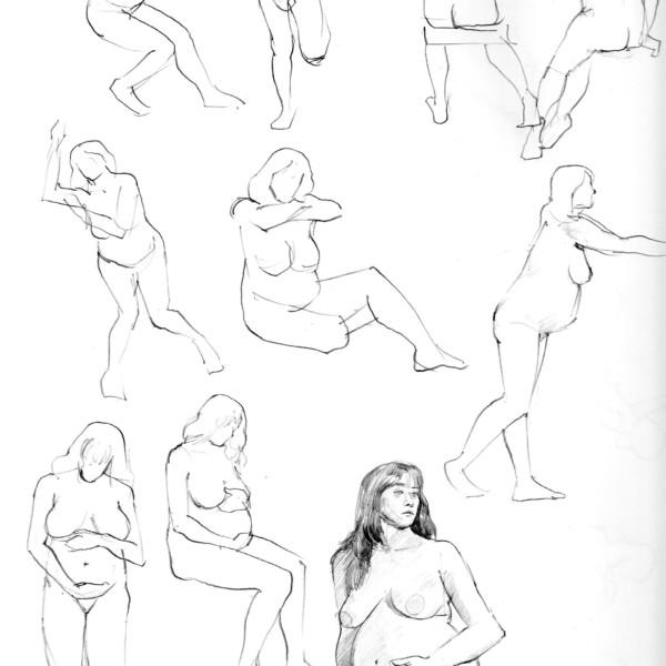 裸婦クロッキー